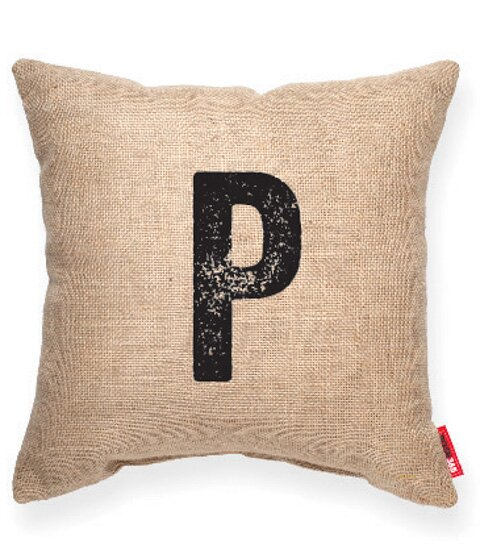 Domaine P Decorative Burlap Throw Pillow by Gracie Oaks
