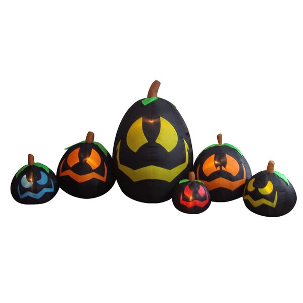 Halloween Inflatable Freestanding Pumpkins Decoration by The Holiday Aisle