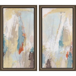 'Plaster Sketch' by Vess 2 Piece Framed Painting Print Set by Paragon