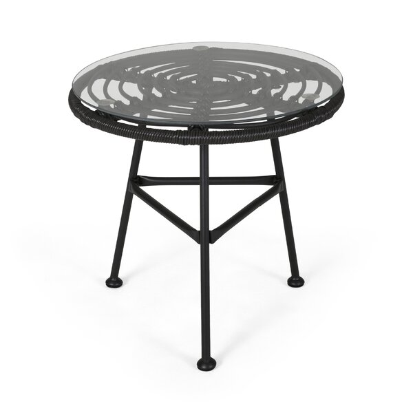 Massenburg Steel Side Table by Bungalow Rose