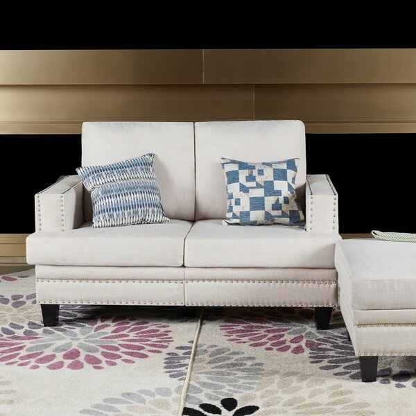 Lininger Upholstered Loveseat by Charlton Home