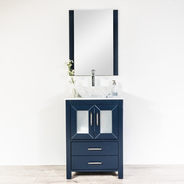 Leena 23 Single Bathroom Vanity Set with Mirror by Wrought StudioLeena 23 Single Bathroom Vanity Set with Mirror by Wrought Studio