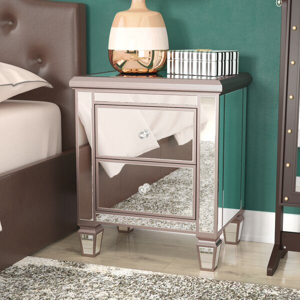 Laurine 2 Drawer Nightstand by Everly Quinn