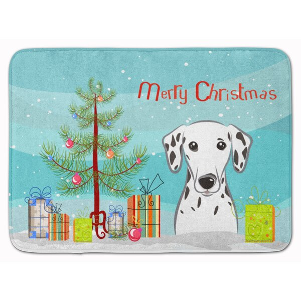 Christmas Tree and Dalmatian Bath Rug by The Holiday Aisle