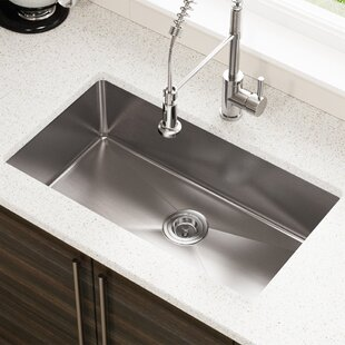save mr direct stainless steel 31 x 18 undermount kitchen sink - Stainless Steel Kitchen Sinks