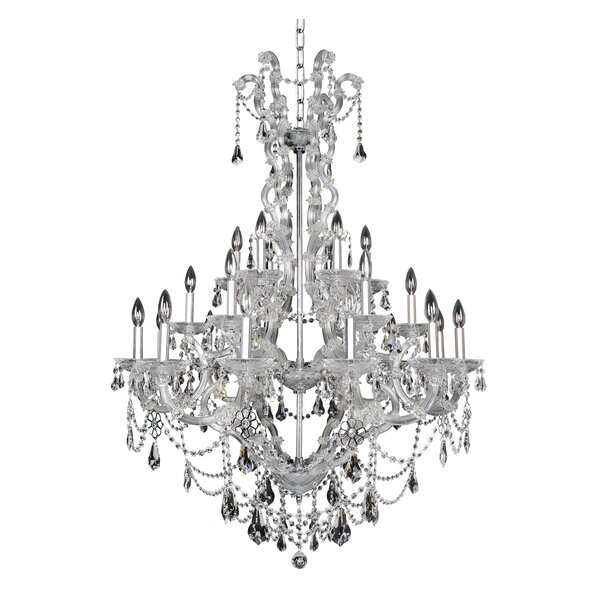 Brahms 24-Light Candle Style Empire Chandelier By Allegri By Kalco Lighting