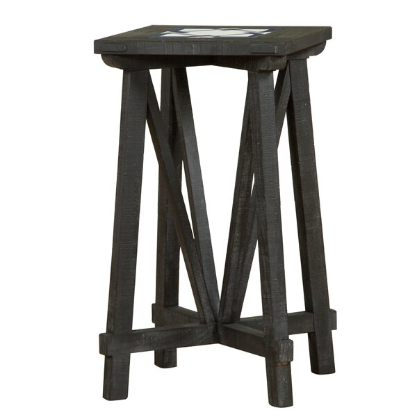 Daria Pattern Top End Table by Gracie Oaks