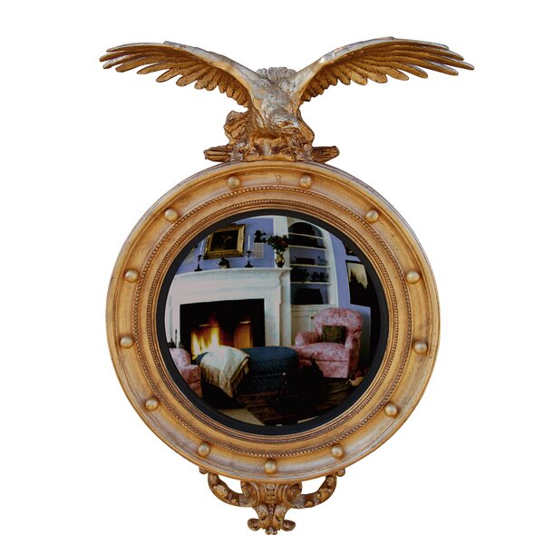 Carved Eagle Convex Accent Mirror by Hickory Manor House