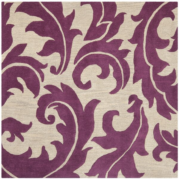 Maxen Purple/Beige Area Rug by House of Hampton