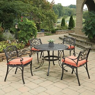Biscayne 5 Piece Dining Set with Cushions By Home Styles