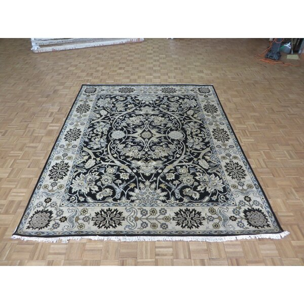 One-of-a-Kind Railey Hand-Knotted Wool Navy Blue Area Rug by Astoria Grand