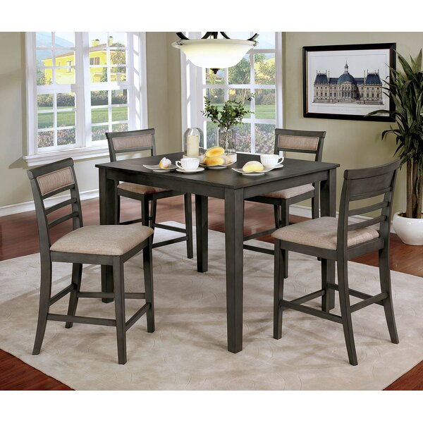 Hansford Wooden 5 Piece Counter Height Dining Table Set by Red Barrel Studio Red Barrel Studio