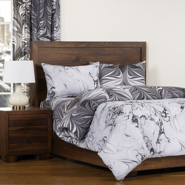 Carrara Black Ash Reversible Duvet Cover & Insert Set