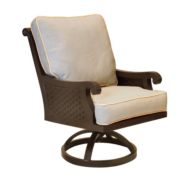 Jakarta Swivel Rocking Chair with Cushion by Leona