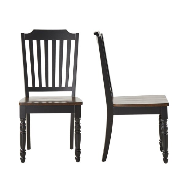 Itchington Solid Wood Dining Chair (Set of 2) by Three Posts