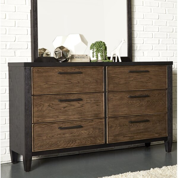 Lymingt 6 Drawer Double Dresser By Brayden Studio by Brayden Studio Great Reviews