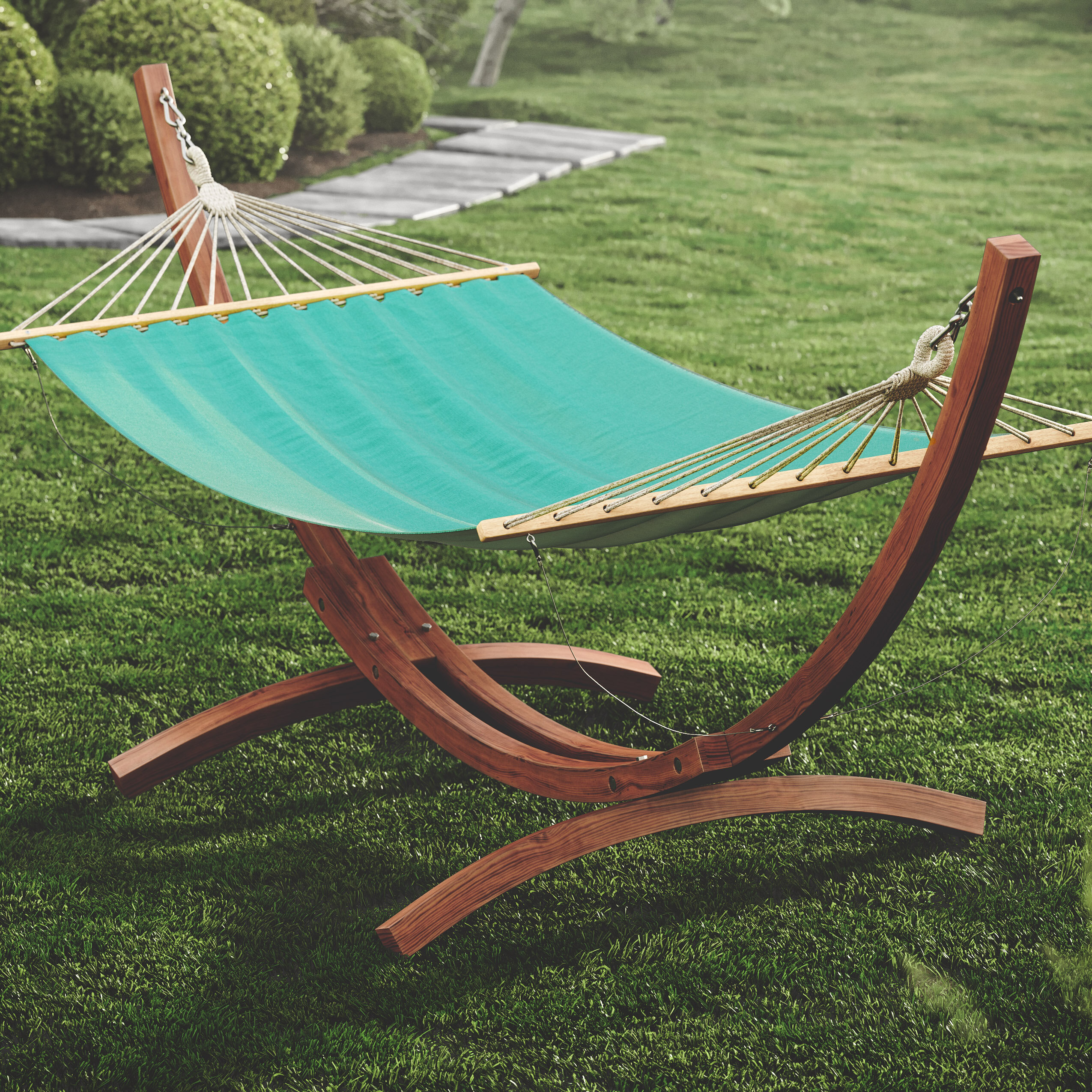 Beachcrest Home Grissom Free-Standing Cotton Patio Hammock with ...