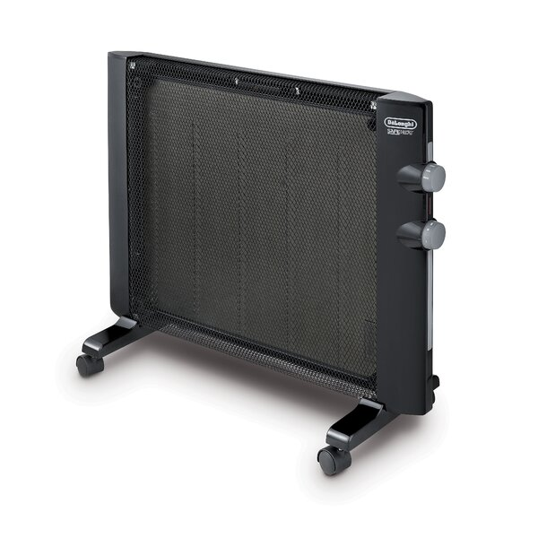 Mica 1,500 Watt Portable Electric Radiant Panel Heater with Adjustable Thermostat by DeLonghi
