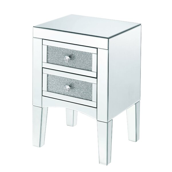Topps 2 Drawer Nightstand by Rosdorf Park