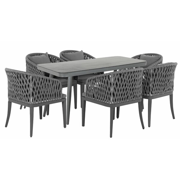 Morabito 7 Piece Dining Set by Wrought Studio