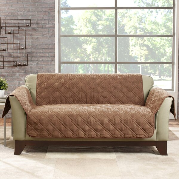 Deluxe Box Cushion Loveseat Slipcover by Sure Fit