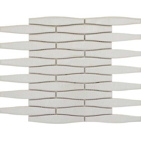Vogue Bevel 2 x 4 Porcelain Subway Mosaic Tile in Matte Gray by Emser Tile