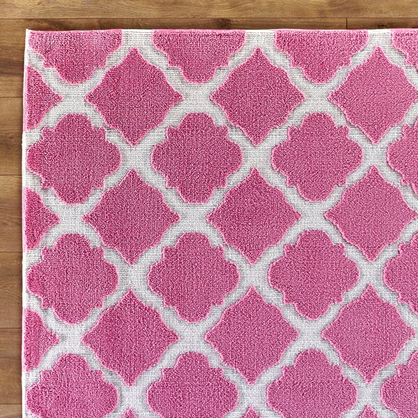 Lattice Play Pink Rug By Birch Lane Kids.