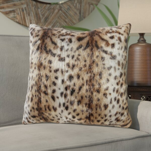 Roisin Jaguar Fur Throw Pillow by Bloomsbury Market