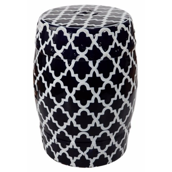 Elington Finely Structured Contemporary Garden Stool by House of Hampton