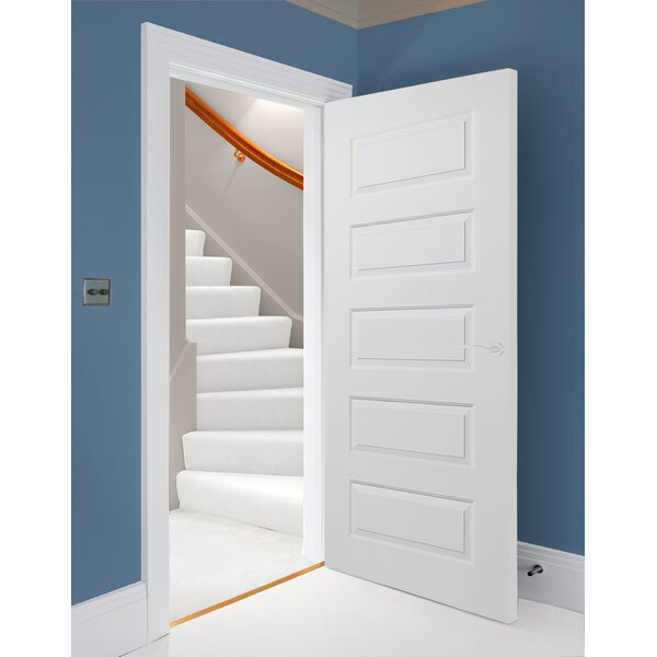 Rockport MDF 5 Panel Primed Prehung Interior Door by Verona Home Design