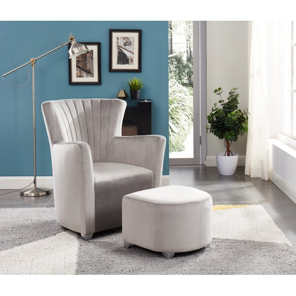 Ryanne Club Chair And Ottoman By Ivy Bronx