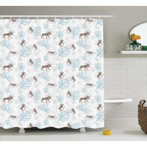 Hanover Winter Retro Forest Shower Curtain by Winston Porter
