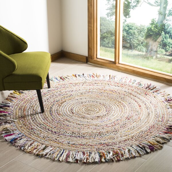 Abhay Boho Hand Woven Jute/Sisal Ivory Area Rug by Bungalow Rose
