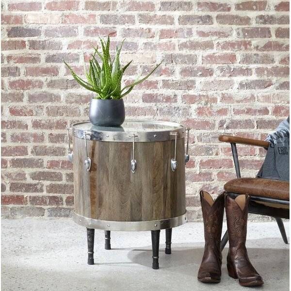 Chew Magna Craig Drum End Table by 17 Stories