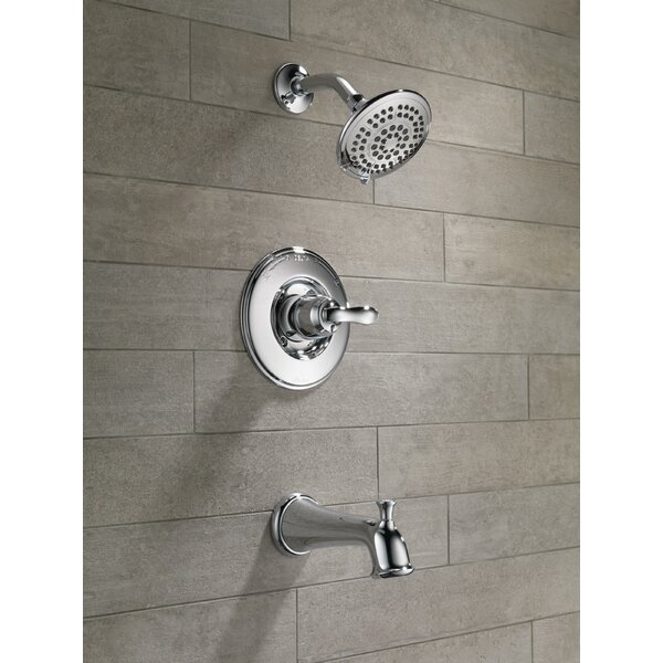 Linden™ Diverter Tub and Shower Faucet with Monitor by Delta