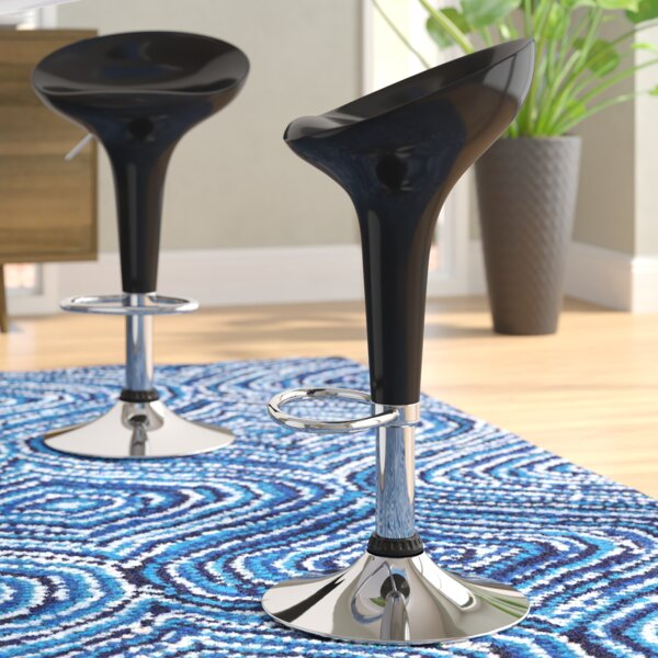 Shain Adjustable Height Swivel Bar Stool (Set of 2) by Wade Logan