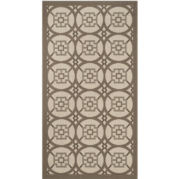Short Beige Indoor/Outdoor Area Rug by Winston Porter