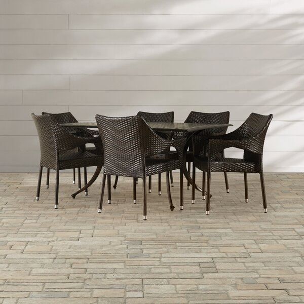 Mora 7 Piece Dining Set by Mercury Row
