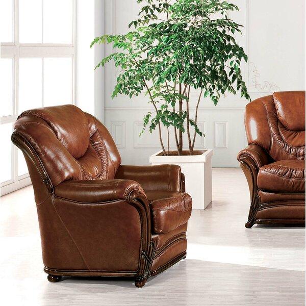 Reneau Wood Trim Armchair by Canora Grey Canora Grey