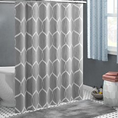 Gray Silver Darby Home Co Shower Curtains Shower Liners You Ll Love In 2021 Wayfair