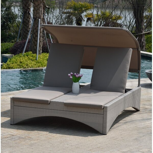 Bellana Chaise Lounger Set With Shade Patio by Latitude Run