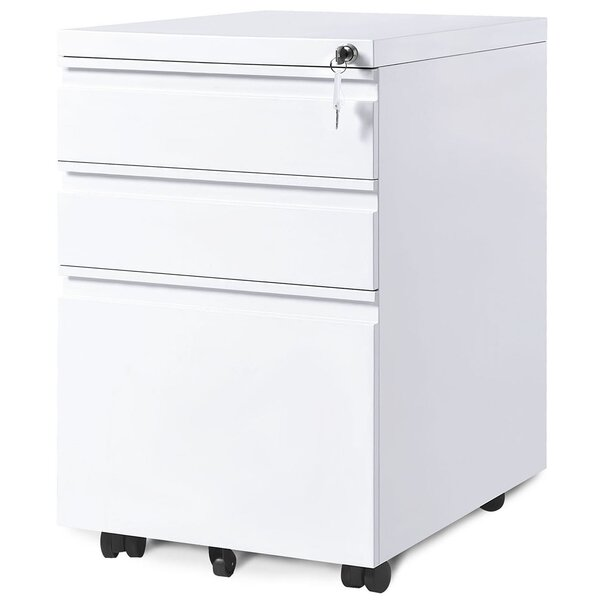 Akelah 3-Drawer Mobile Vertical Filing Cabinet