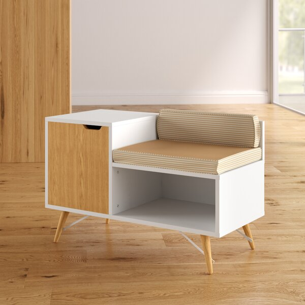 Kinsley Sectional Wood Storage Bench by Langley Street