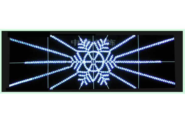 Snowflake Motif Lit with LED Rope Lighting by Queens of Christmas