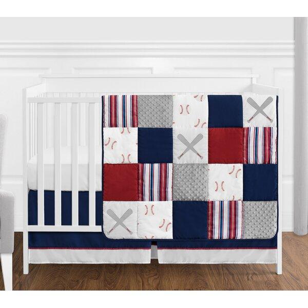 Baseball Patch 4 Piece Crib Bedding Set by Sweet Jojo Designs