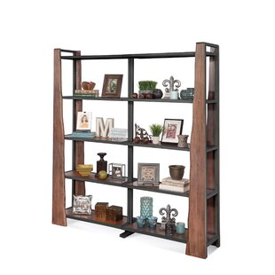 Runion Live Edge Industrial Bunching Standard Bookcase by Loon Peak