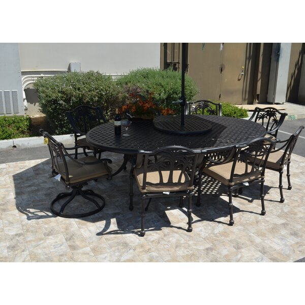 Maccharles 10 Piece Dining Set with Cushions Bayou Breeze BBZE3830