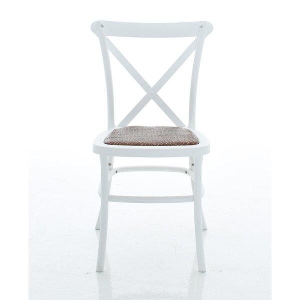 Ivan X-Back Armless Dining Chair (Set of 2) by Alcott Hill