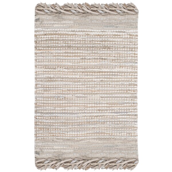 Glostrup Flat Woven Beige Area Rug by Bungalow Rose
