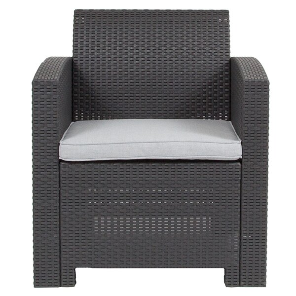 Synergy Patio Chair with Cushions by Latitude Run